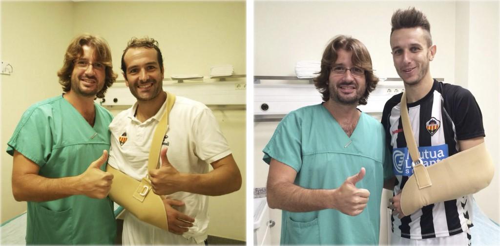 Dr. Delgado CD Castellón Gaizka Saizar y Rubén Fonte 13-09-15